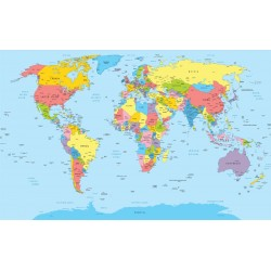 Wallpapers mural political map of the world