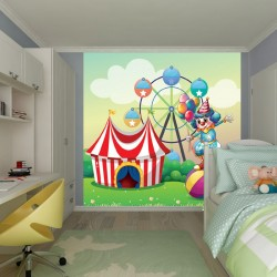 Photo mural Children's circus and clown