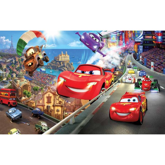 Photo mural  McQueen flying cars
