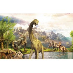 Wallpaper Mural with dinosaurs