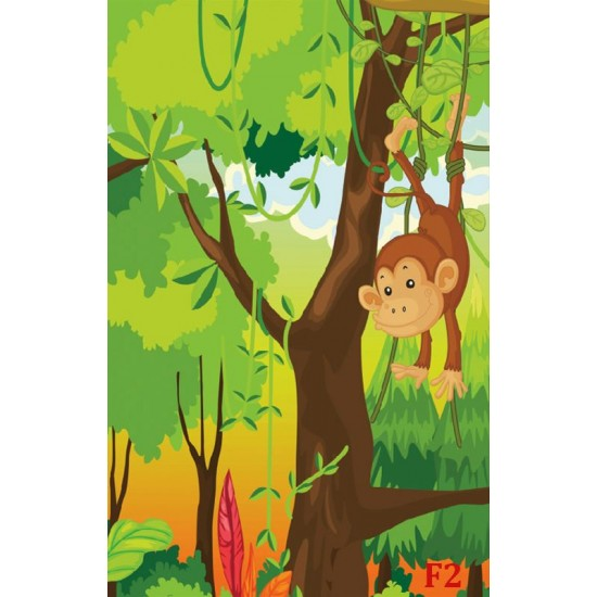 Wallpapers mural monkeys in the jungle