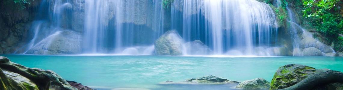 Waterfalls and gardens